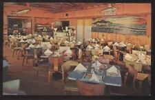 Postcard TREASURE ISLAND Florida/FL  Kingfish Restaurant Interior view 1950's