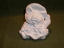 12 Month Calendar Pig March ~ Ceramic Bisque Ready to Paint