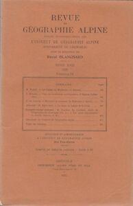 Blanchard : revue de géographie alpine, tome XVIII, fascicule IV, 1930