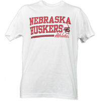 NCAA Nebraska Cornhuskers White Underline Logo Tshirt Tee Short Sleeve Sports