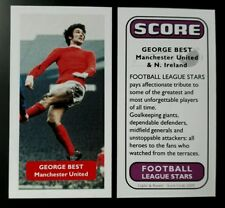 GEORGE BEST Manchester United & Northern Ireland - Score UK football trade card