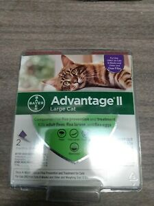 BAYER ADVANTAGE II FOR LARGE CAT OVER 9 LBS. 2 DOSES FREE SHIPPING