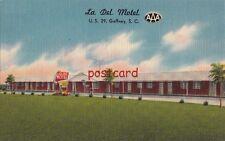 c1950's LA DEL MOTEL Gaffney SC Mr & Mrs J.G. Lackey owners/manager, TV Optional