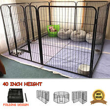 Extra Large Dog Playpen Puppy Pen Kennel 40 Inch Tall with Door 8 Panels New