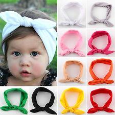 Girls Kids Baby Turban Knot Bow Headband Hair Band Headwear Head Wrap Accessory