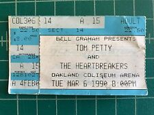 Tom Petty and the Heartbreakers 3-6-1990 OAKLAND COLISUEM ARENA Ticket Stub