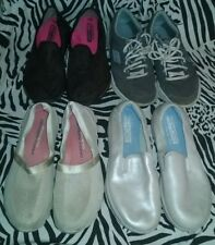 Lot Of 4 Pairs Skechers Shoes Women's Size 8.5 ~ Great Price & Variety Free Ship