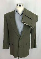 bfe013de9 Hugo Boss Mens Delon Revue Suit 40R Jacket 34x30 Pants Gray Linen Blend 2  Button