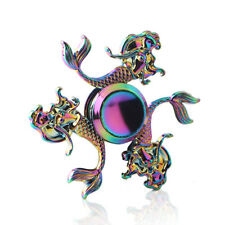 Rainbow 3 Leaf Mermaid Fish Fidget Hand Spinner Relieve Stress Finger Gyro Toys