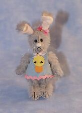 "DEB CANHAM  /""MONIQUE MOUSE/"" CREAM MOHAIR MOUSE WEARING BUNNY OUTFIT LIM ED 2013"