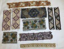 Lot Of Antique French Silk Trim - Passementerie - Dragon Flower - Fashion Design