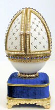 Russian Replica Faberge egg featuring the Scene of the Christ the Child