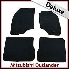 Mitsubishi Outlander Mk1 2003-2006 a medida Alfombrillas De Coche De Lujo Alfombra de 1300g Negro