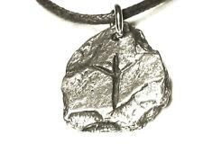 ALGIZ Viking 'Rustic Slate' Rune Pendant, Protection, ELK, Letter 'X or Z'