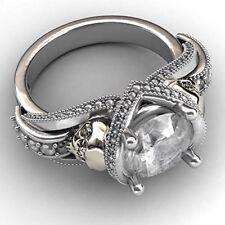 Evbea Gothic Skull Rings, Engagement, Anniversary, Rose skull