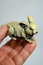Grey Stone Figurine of a Rabbit, Made in Taiwan for Price Products, Bellmawr, Nj