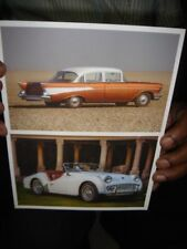 INDIA  OLD CAR PICTURE POST CARD 15 DIFFERENT IN 1 LOT - SIZE 7 '' X 4.3/4 ''