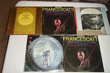 5 Classical Violin LPs HOELSCHER Korngold,YALE QUARTET Beethoven, FRANCESCATTI