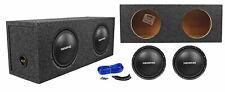 "(2) Memphis Audio Srx1044 10"" 800w Srx Car Subwoofers+Sealed Sub Box Enclosure"