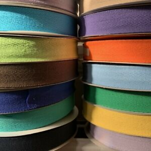 100% Cotton Herringbone Webbing Tape Straps Aprons 15/25/40mm - by the metre