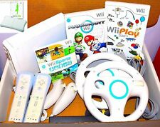 Nintendo Wii console + 15 games inc mario kart + 2 remotes + Sports + Wii Fit