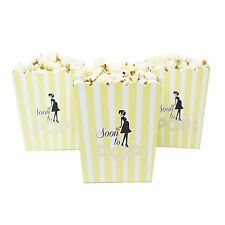 Set of 20 Yellow Soon To Pop Popcorn Baby Shower Boxes Gender Reveal Party Favor