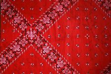 Red Bandana Tissue Paper #283 ..... 10 Large Sheets - Men, Cowboy, Western