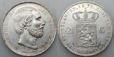 HOLANDA PAÍSES BAJOS 1870 WILLEM III 2 1/2 GULDEN MONEDA PLATA EBC+
