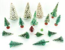 Vintage Christmas Trees Village Wire Decoration Styrofoam Lot 18 Total (395)