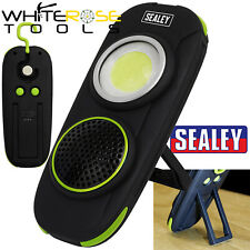 Sealey Rechargeable Torch Light Wireless Speaker 10W COB LED 500 Lumens Lamp