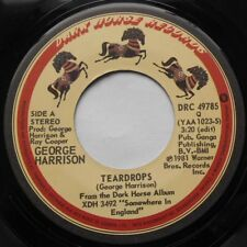 """GEORGE HARRISON (THE BEATLES) Teardrops / Save the world Ex CANADA 1981 45 7"""""""