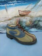 Angels Youth Oxfords Full Brogue Dress Shoes Blue/green  Sz 5.5