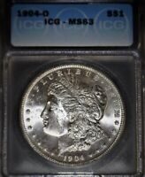 1904-O Morgan Silver Dollar, ICG MS63 ,  Issue Free