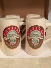 Capital Garten Brau, Set Of 4 Beer Mugs, 1989, Middleton, WI