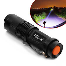 Tactical Ultrafire Mini Q5 8000 LM LED 3 Mode Zoomable Flashlight Torch Light