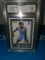 GMA 10 💎 MINT ~Ja Morant Rc Panini Sticker Card ROOKIE OF THE YEAR! #82 🔥🏀🔥
