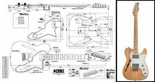 Telecaster-Style Thinline Electric Guitar Full Scale Plan