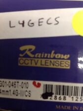"Rainbow - L4GECS - Lens, 1/3"", 4mm, f/1.4, Auto-Iris, CS Mount"
