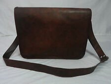 "Vintage Leather Messenger Bag Women 13"" MacBook Pro/Air Crossbody Shoulder Bag"