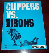Baltimore Clippers  AHL game Program March 6 1965 vs Buffalo Bisons