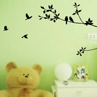 wall stickers bird tree branch leaves Art Removable Vinyl decor decal