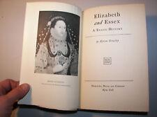 1928 Elizabeth and Essex Tragic History Lytton Strachey