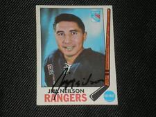JIM NEILSON 1969-70 TOPPS SIGNED AUTO CARD #35 RANGERS