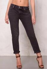 LEVI'S MS SIZE 25 FADED BLACK RED TAB 501 CT CUSTOMIZED & TAPERED CROPPED JEANS
