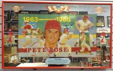 1980's Seagram's Pete Rose Large Bar Mirror Autographed Signed Reds