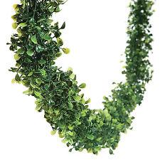 12 Feet BOXWOOD Leaf Garland Wedding Event Dining Table Faux Greenery Vine Decor
