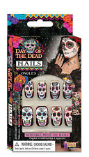 Day of the Dead Fake Nails Halloween Fancy Dress Costume Prop