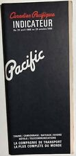 CANADIAN PACIFIC RAILWAY Time Table April 24, 1966