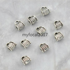 10x Tibetan Silver Tube Beads Jewelry Findings DIY Necklace Bracelet Crafts New