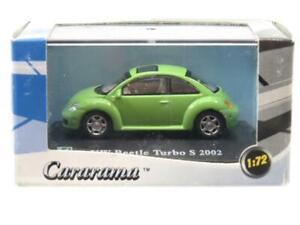 Cararama Hongwell VW Volkswagen Beetle Turbo S 2002 Green 1 72 Scale Boxed